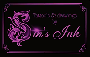 Sin's ink Tattoo's and dwarings Logo